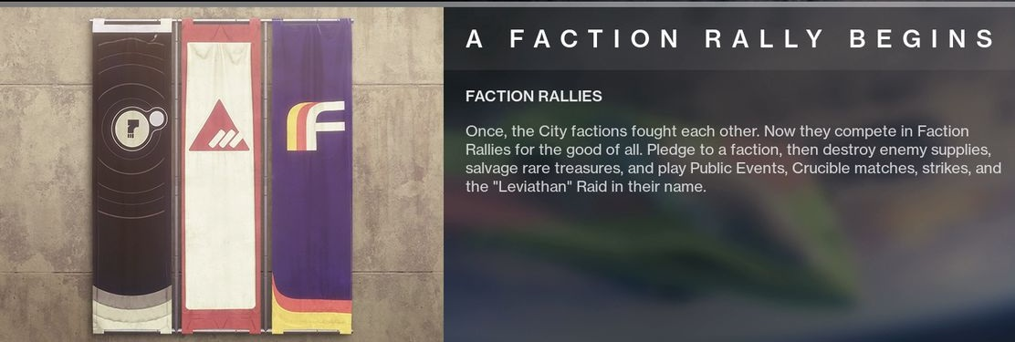 Destiny 2 Faction Rally